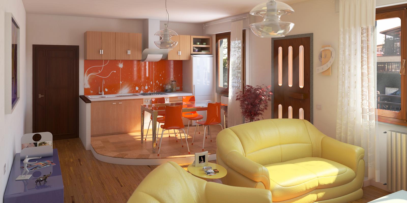 Soggiorno-Cucina  STUDIO ARCHITETTURA FIRENZE