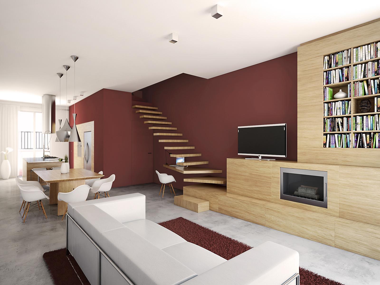 Studio architettura firenze soggiorno cucina - Soggiorno cucina a vista ...