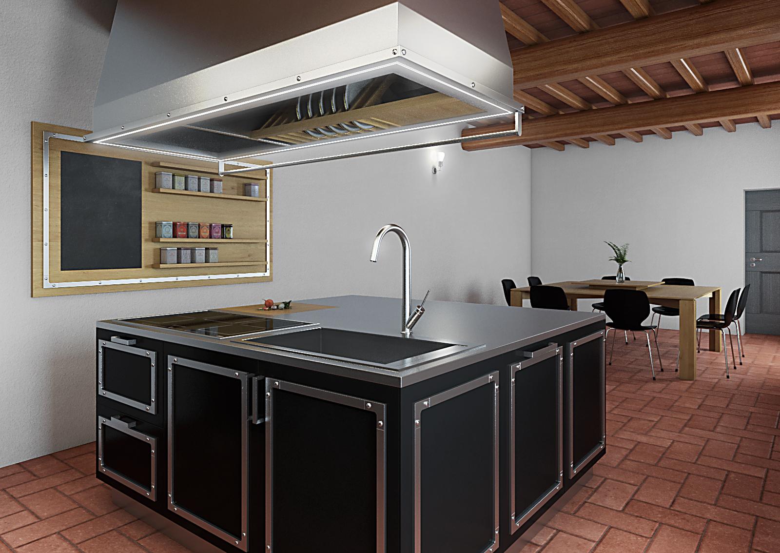 Studio architettura firenze cucina per casa colonica - Cucina per casa ...
