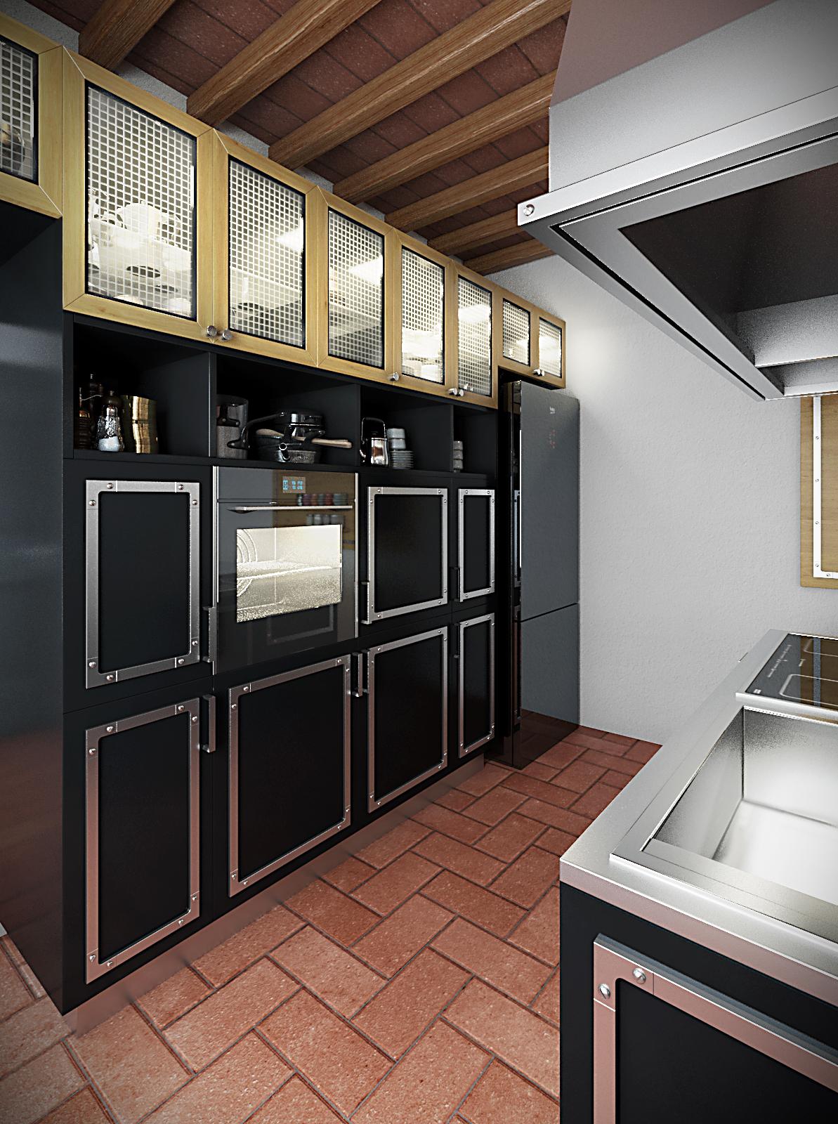 STUDIO ARCHITETTURA FIRENZE – Cucina per casa colonica